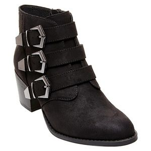 Betseyville Supagal Buckle Ankle Boots Booties 8.5